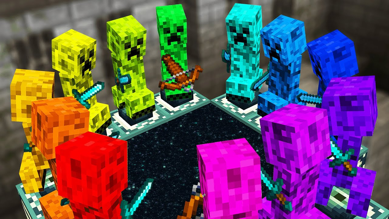 Download Minecraft but Creepers beat the game for me