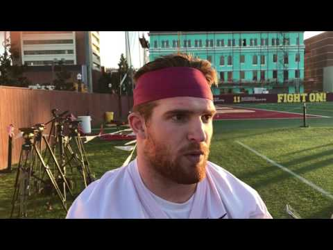USC MLB Cameron Smith after USC Spring Practice No. 1