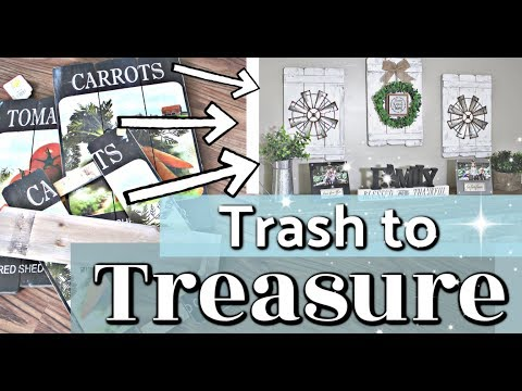 Trash to Treasure Makeover | DIY Farmhouse Home Decor Ideas | Decorate With ME | Krafts by Katelyn