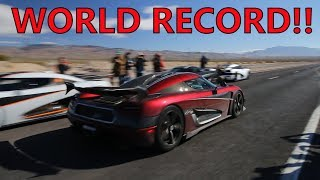 Insane Koenigsegg Agera RS Breaks TOP SPEED WORLD RECORD!!!