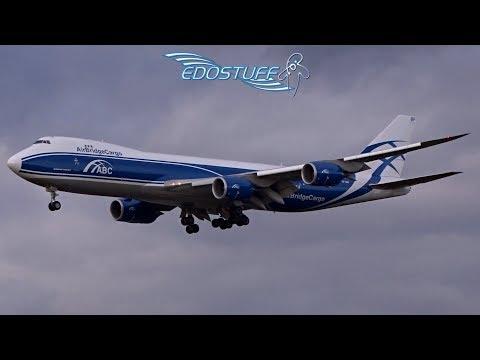 AirBridgeCargo Boeing 747-8 VP-BBP - Frankfurt am Main EDDF/FRA Landing