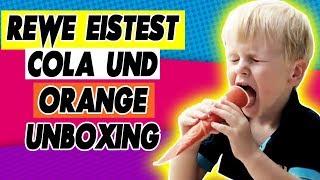 Rewe Eistest Cola und Orange unboxing