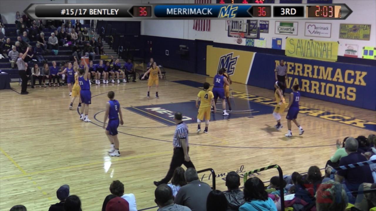 Merrimack college athletics wbb bentley highlights 2 21 17 sciox Images