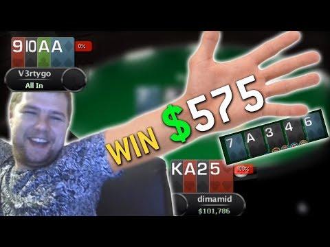 ТОП 1 В ТУРНИРЕ ПО ОМАХА ХАЙ ЛОУ - ВЫИГРАЛ $575 | Запись стрима по покеру Dimamid 11.10.18