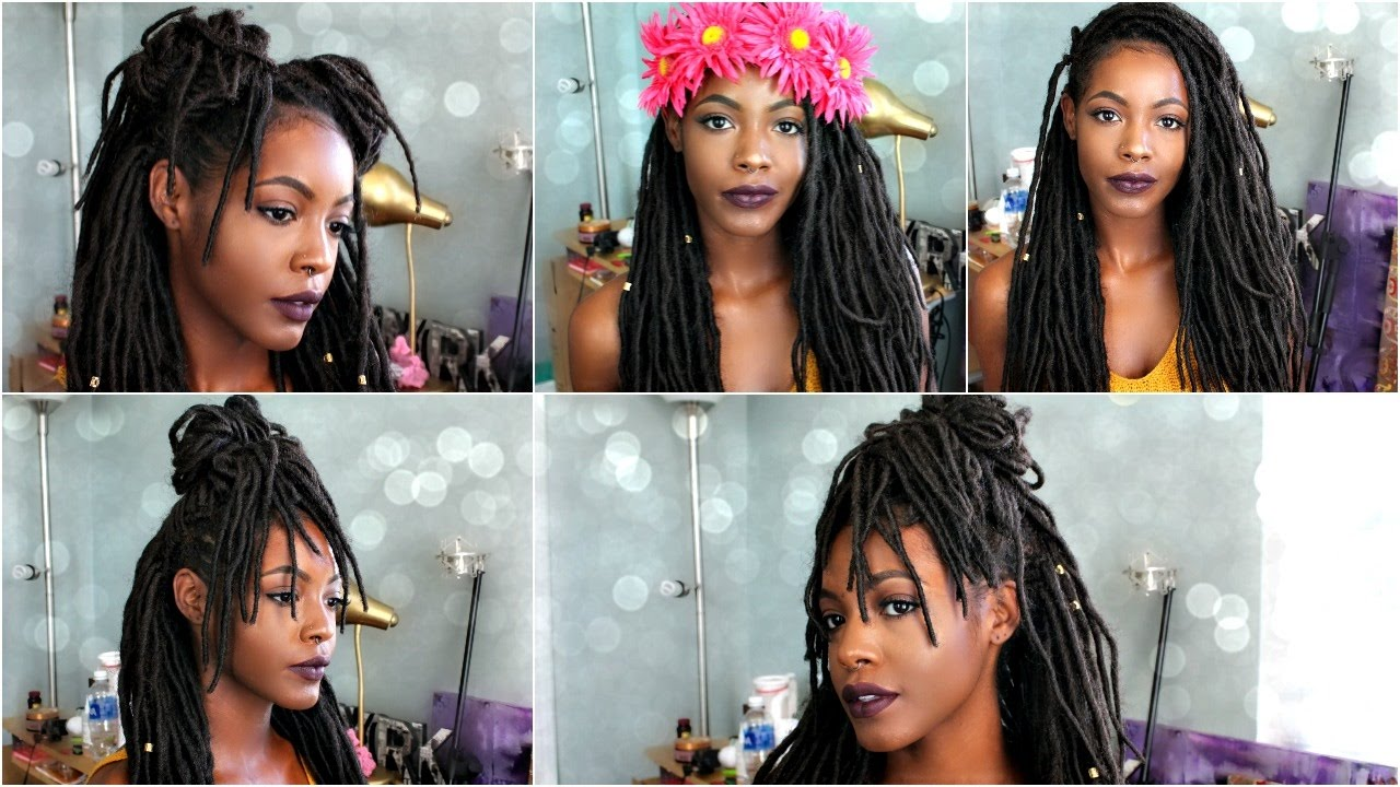 6 Edgy Ways To Style Faux Locs Braids Amp Twists Youtube