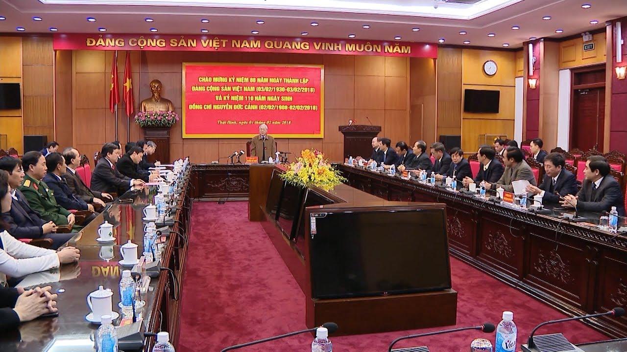 Tổng Bí thư Nguyễn Phú Trọng làm việc với Ban Thường vụ Tỉnh ủy Thái Bình