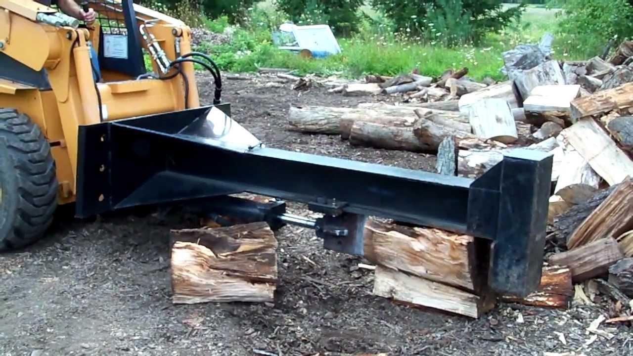 Skidloader  Logsplitter Attachment