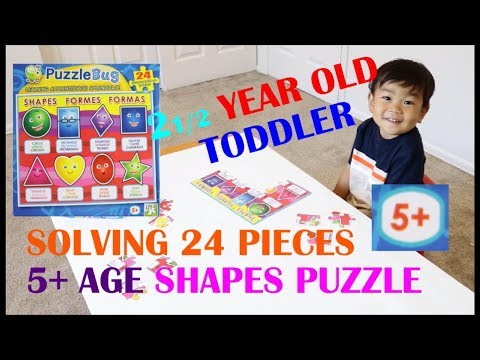 2 1/2 year old toddler puzzle solving – 24 pieces 5+ age group|2-3 year old learning activity