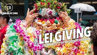 Lei Giving At University of Hawaii At Manoa 2017 Graduation