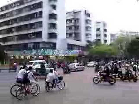 Traffic in Shantou, Guangdong Province, China