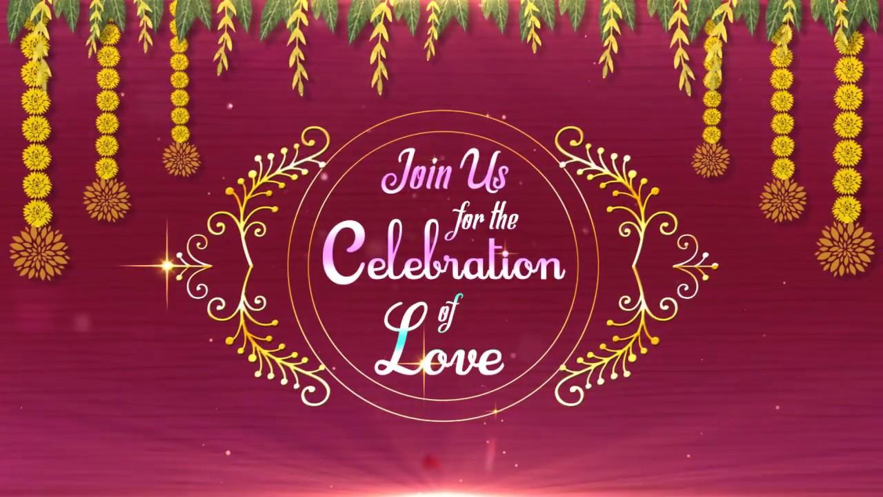 Digital Wedding Invitation Video (DWI-Wedding Garland) - YouTube