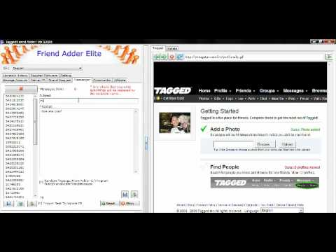 Tagged.com How To Automatically Send Mass Messages on Tagged.com Social Site for Marketing