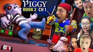 PIGGY BOOK 2!  Escaping The Alleys w/ Doggy! (FGTeeV Ch. 1 + New Quiet Mode... Shhh!)