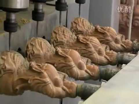 The Wood Figure 3D CNC Engraving Machine Multi-Heads