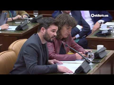 """Rufián y De Alfonso se enzarzan en el Congreso: """"No soy un gallina como usted"""""""