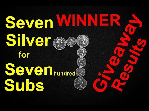 Seven Silver for Seven hundred Subs, RESULTS, by Louie Molnar