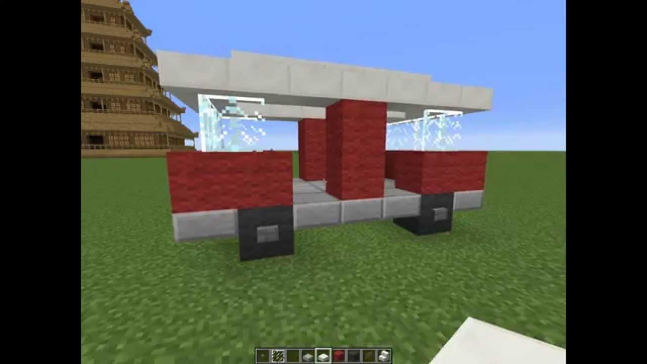 Tuto construction van facile et rapide minecraft youtube for Minecraft tuto construction