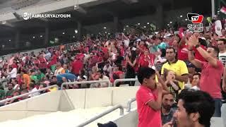 فرحة الجماهير عقب إحراز مروان محسن الهدف الأول في مباراة مصر وغينيا