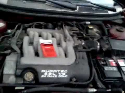 Replacing 25 L Ford V6 Water Pump Belt JOETHEAUTOGUY