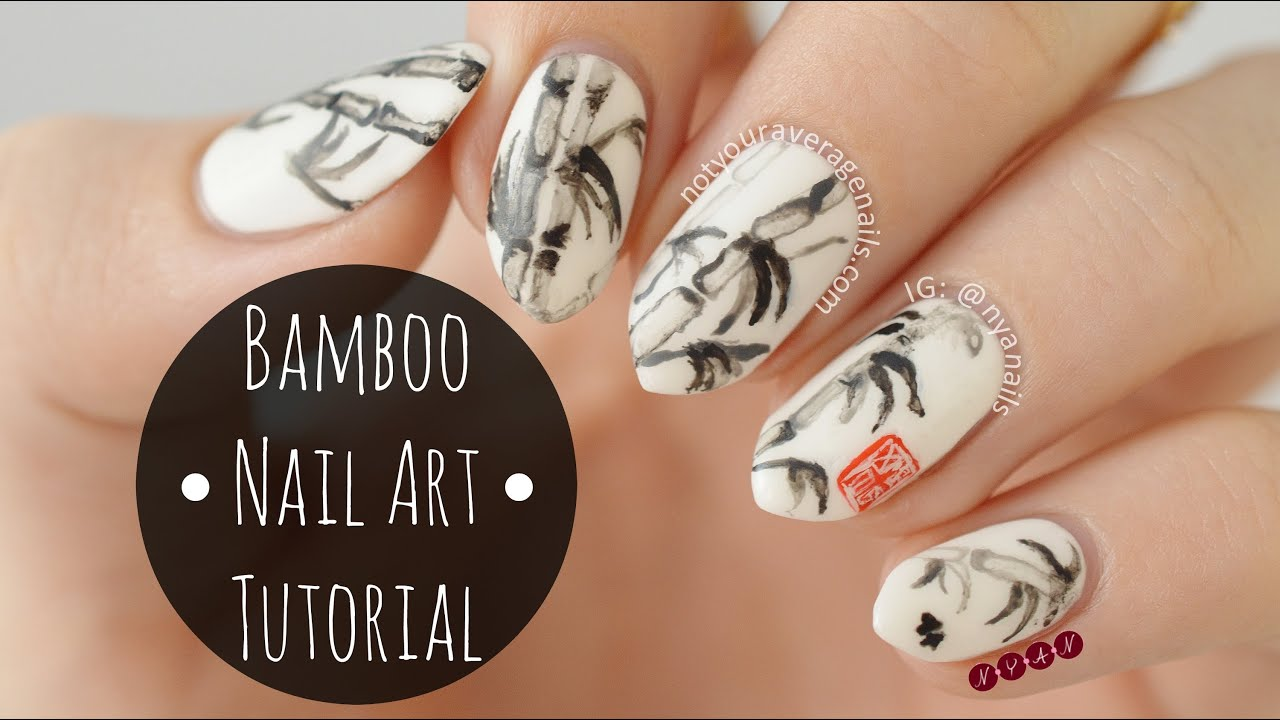 Bamboo nail art tutorial youtube prinsesfo Gallery