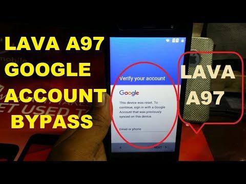 LAVA A97 GOOGLE ACCOUNT BYPASS