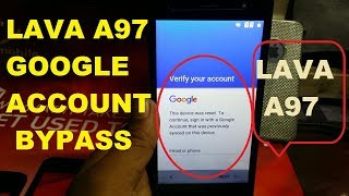 LAVA A97 GOOGLE ACCOUNT BYPASS