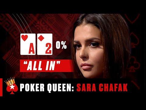 The MOST RECKLESS BLUFFER IN POKER🥰 Sara Chafak ♠️ Poker Queens ♠️ PokerStars  
