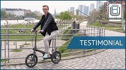 "Worlds Lightest 16"" Electric Folding Bike - THE ONE - Testimonial"