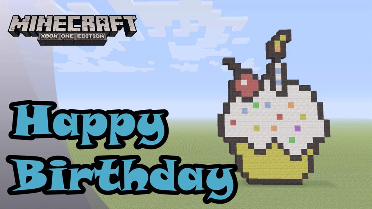 Minecraft: Pixel Art Tutorial and Showcase: Happy Birthday ...