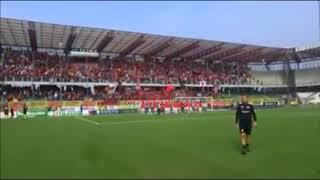 Cesena - Foggia: il tifo assordante dei tifosi Foggiani al Manuzzi