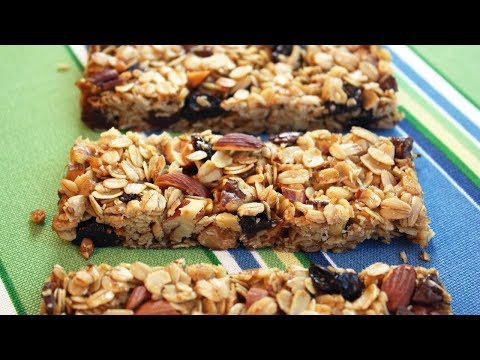 Granola Bars - Easy One Bowl Recipe.