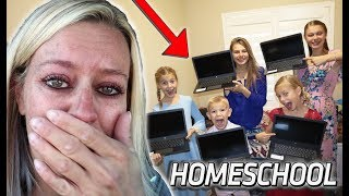 Emotional FIRST Day of Homeschool For 6 KIDS!