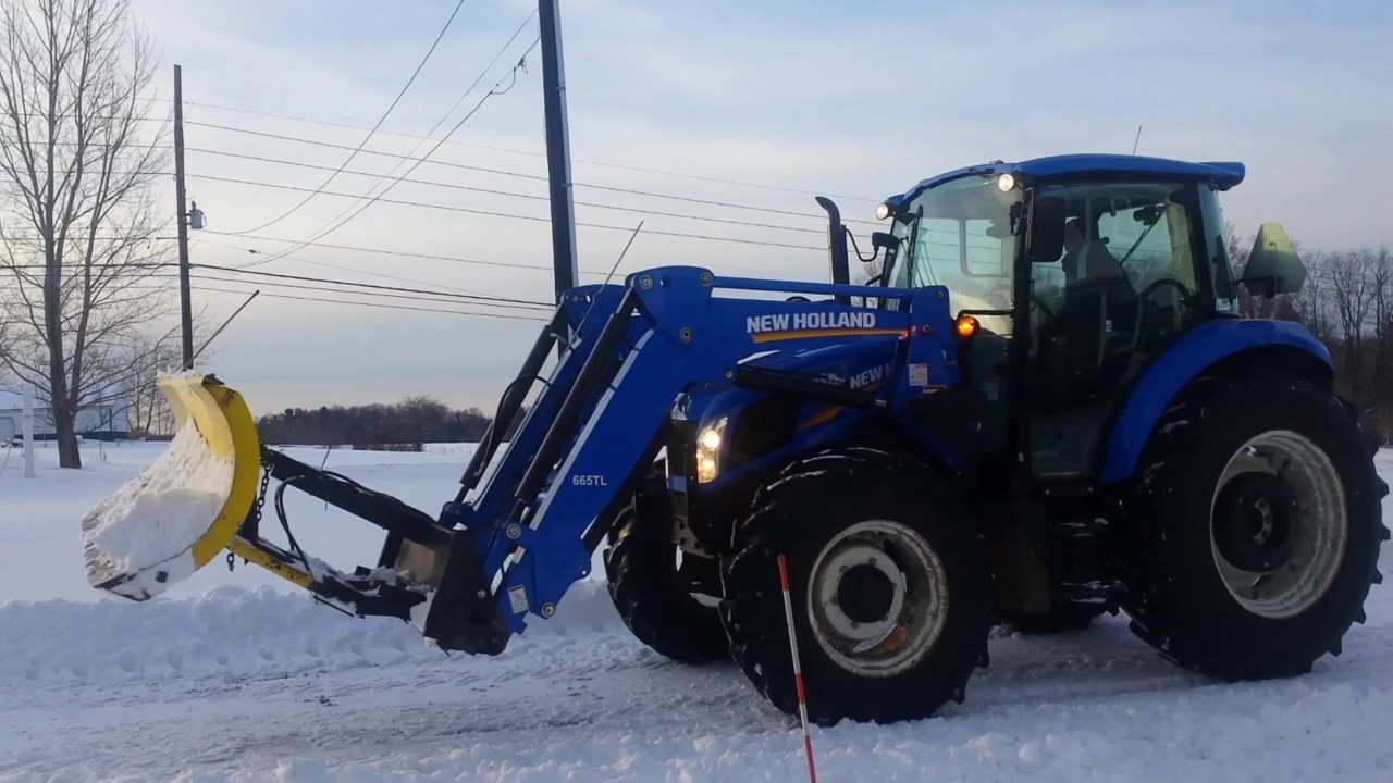 New Holland Ledger Plate : New holland t plowing snow again youtube