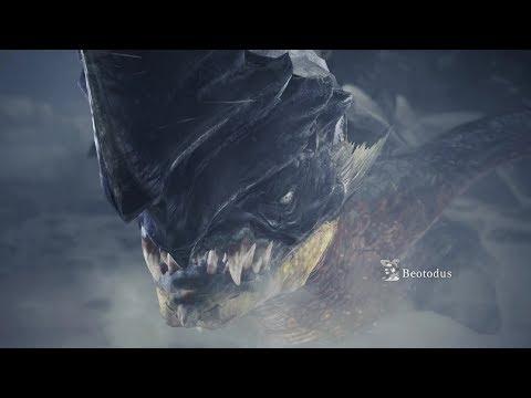 Monster Hunter World: Iceborne - Beotodus Boss Fight (Solo / Longsword)