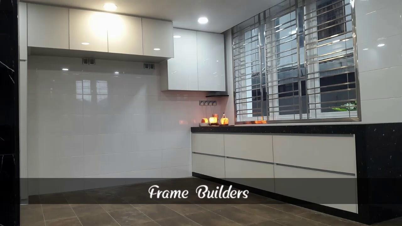 Aluminium Kitchen Cabinet And Gl 铝合金 厨房 Dapur Kabinet المطبخ الألومنيوم