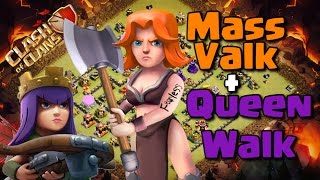 CLASH OF CLANS - MASS VALKS WITH A QUEEN WALK 3 STARS