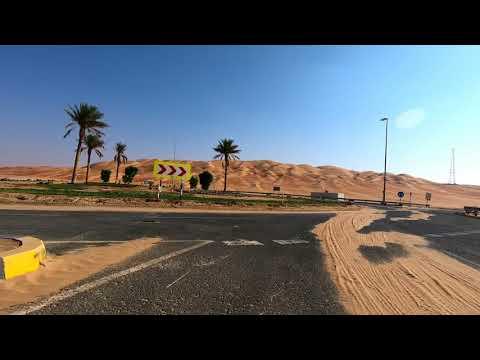 Road to moreeb dune near Liwa oasis