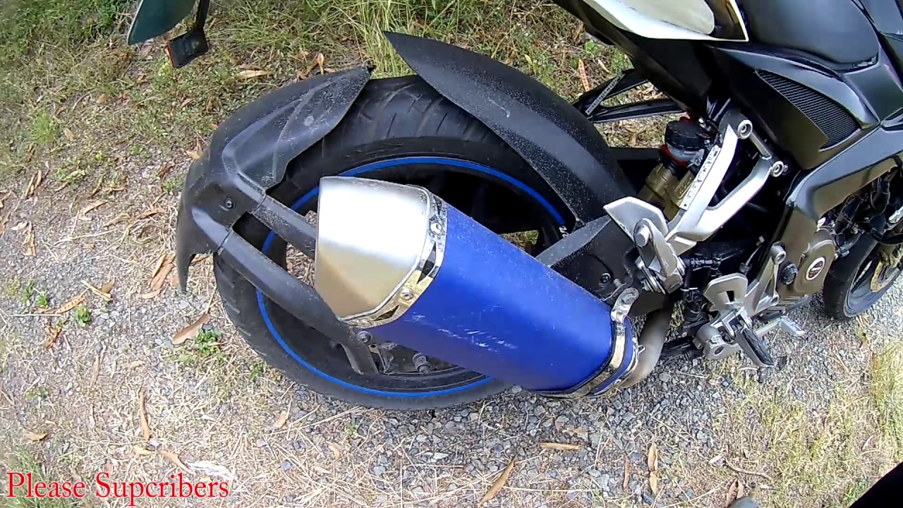 pulsar 200 ns modified exhaust youtube
