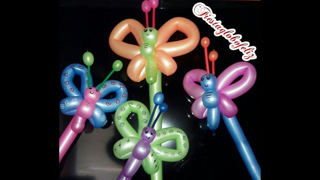 Como hacer una linda mariposa con globos 260 youtube - Como hacer figuras con globos ...