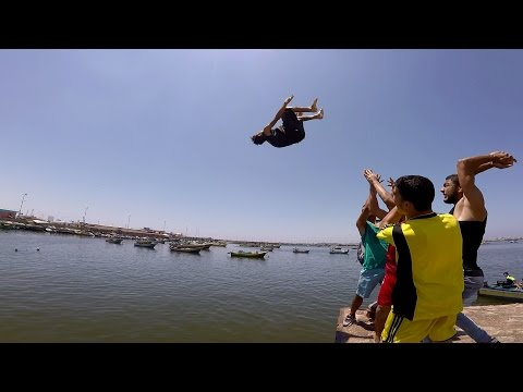 Parkour in the port of Gaza | Free Run Gaza  | 2015
