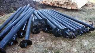 видео Монтаж винтового фундамента и устройство винтовой сваи