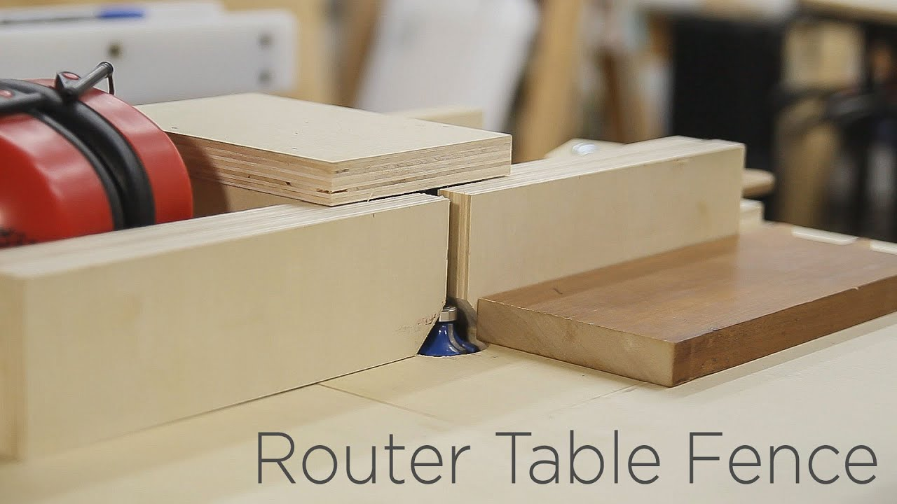 Adjustable router table fence for my homemade router lift 190 youtube greentooth Image collections