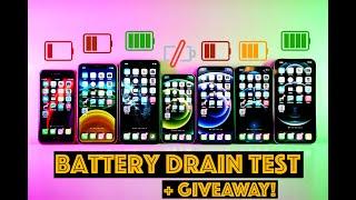 2020 iPhone Battery Drain Test - SE vs 11 vs 11 Pro Max vs 12 Mini vs 12 vs 12 Pro vs 12 Pro Max