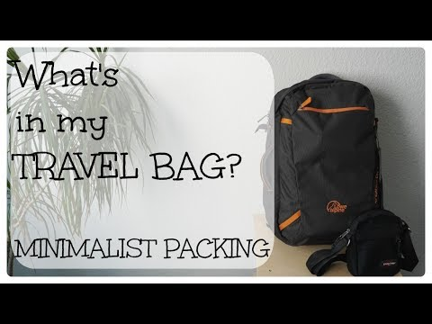 What's in my travel bag, Amsterdam edition | Minimalism & ze