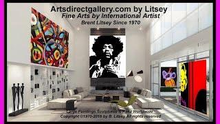 Picasso, Warhol, Miro, Monet Art For Sale by International Artist Litsey artsdirectgallery