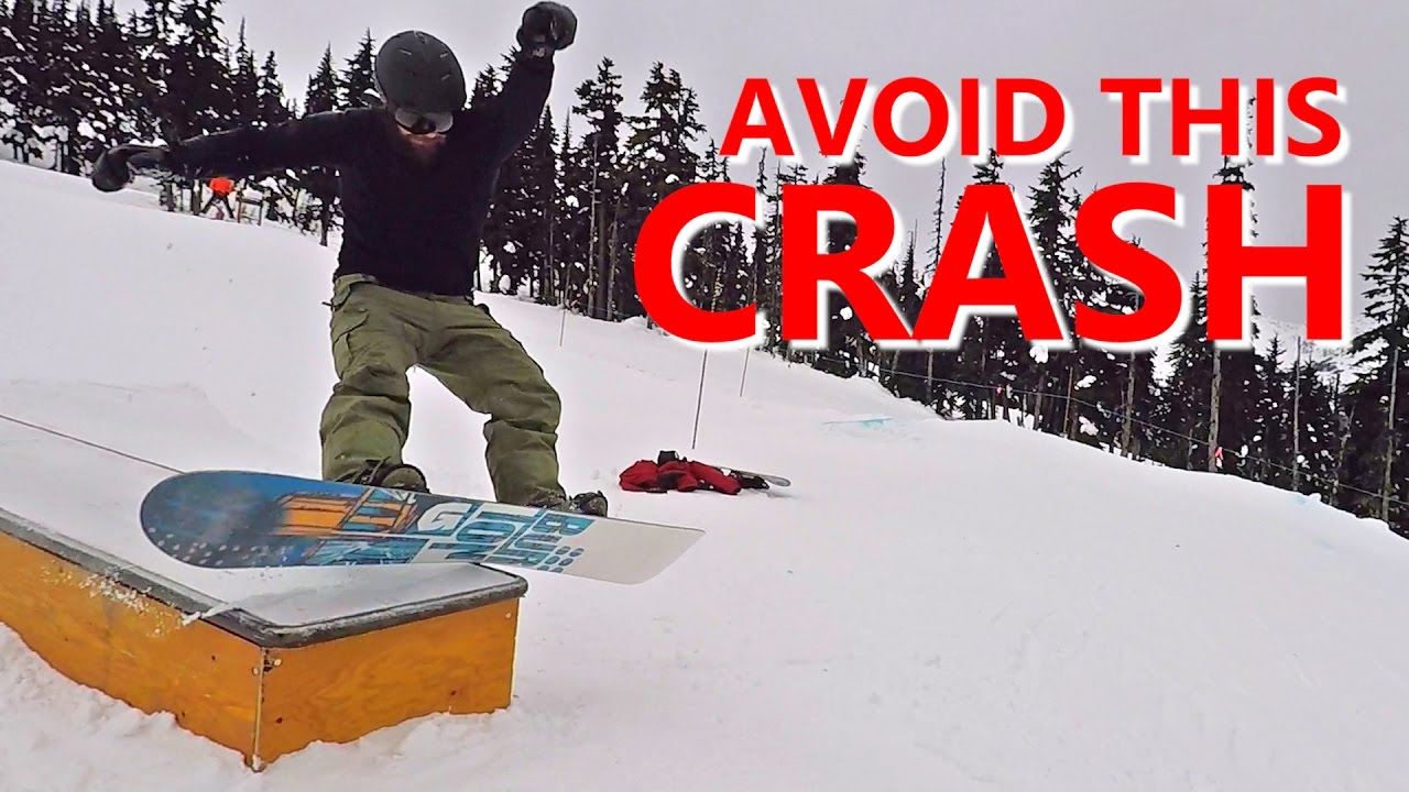 b808005b51d3 Avoid The Boardslide CRASH! - Beginner Snowboard Tricks - YouTube