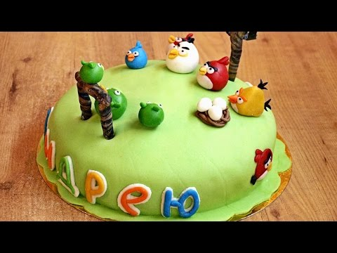 Торт на День рождения / How to make Birthday cake with marshmallow fondant ♡ English subtitles