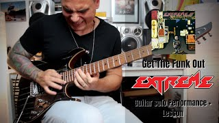 Extreme - Get The Funk Out Solo Cover + Lesson by Rod Rodrigues