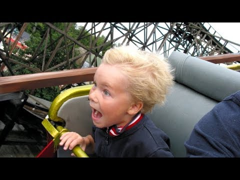 'Having fun' in AMUSEMENT PARK - When ADRENALIN kicks in! Check out and LAUGH :)
