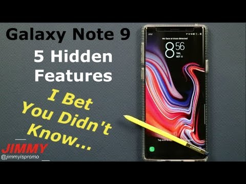Galaxy Note 9 - The 5 HIDDEN Tricks You DIDNT Know